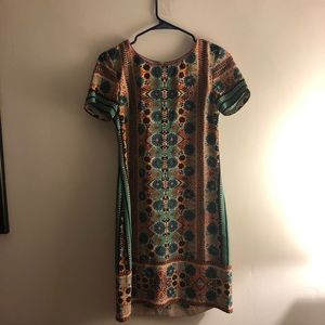 Anthropologie silk shift dress, 0